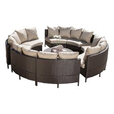 Avalon Wicker 10 Piece Lounge Seating Group with Cushions