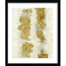 Gold Brushstroke Graphic Art Shadow Box