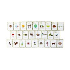 26 Piece Nature Themed English Alphabet Wall Card Set