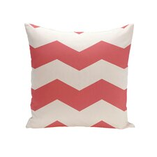 Chevron Stripes Geometric Outdoor Throw Pillow