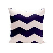 Chevron Stripes Geometric Outdoor Throw Pillow