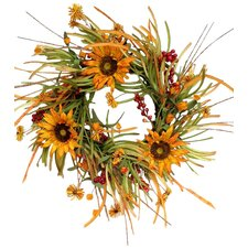 Sunflower & Fall Grass Wreath
