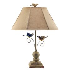 """Fly Away Together 23"""" H Table Lamp with Empire Shade"""