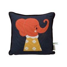 Elle Elephant Organic Cotton Throw Pillow