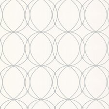 "Darcy Pearl 33' x 20.5"" Geometric Wallpaper"