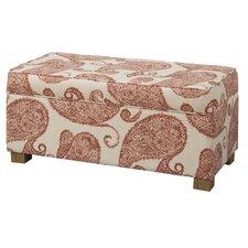 Henna Upholstered Decorative Storage Ottoman