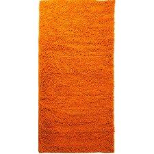 High Pile Orange Solid Area Rug
