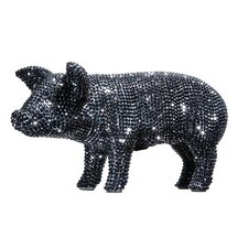 Graphite Rhinestone Piggy Bank