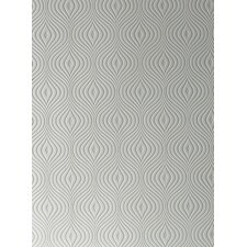 "Paintable Curvy 32.8' x 20.5"" Geometric Embossed Wallpaper"