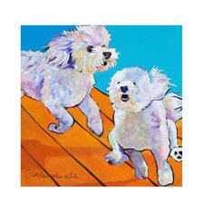 """""""Catch Me"""" by Pat Saunders-White Painting Print on Canvas"""