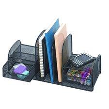 Onyx 3 Section Mesh Upright Desktop Organizer
