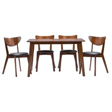 Baxton Studio Sumner 5 Piece Dining Set