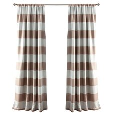 Stripe Rod Pocket Curtain Panel (Set of 2)