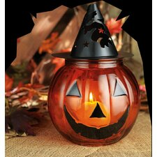 Halloween Glass Votive Candle Holder