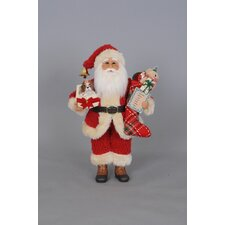 Christmas Surprise Santa Figurine