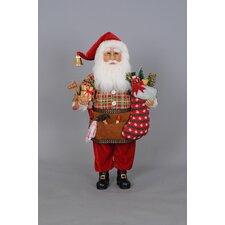 Christmas Making Toys Santa Figurine