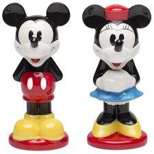 Mickey & Minnie 2 Piece Ceramic Salt & Pepper Shaker Set
