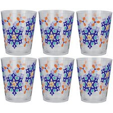 Marrakesh 18 oz. Double Old Fashioned Cone Tumbler (Set of 6)
