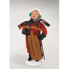 Carolers Snow Day Kid with Sled