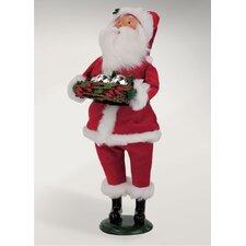 Carolers Velvet Santa