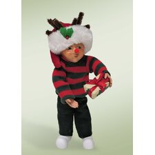 Carolers Toddler Boy with Package