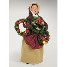 Carolers Woman Selling Evergreens