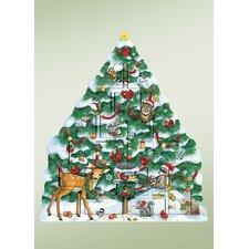 Carolers Snow Tree Advent Calendar