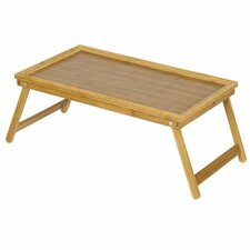 """Bamboo 8.7"""" H x 24.4"""" W Lapdesk Bed Tray"""