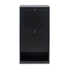 B&W 3-Tier 2-Door Shoe Storage Cabinet