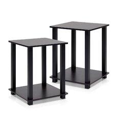 Simplistic 2 Piece End Table