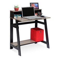 Simplistic Computer Desk with Built-in Hutch