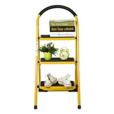 3.4 ft Metal 3 Step Heavy Duty Ladder with 200 lb. Load Capacity