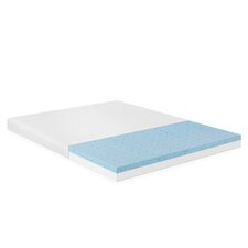 "Healthy Sleep 4"" Visco Elastic Gel Memory Foam Mattress Topper"