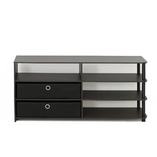 "Furinno JAYA Simple Design 50"" TV Stand with Bins"