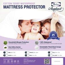 Angeland Terry Cloth Waterproof Mattress Protector