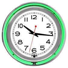 """14"""" Double Ring Neon Wall Clock"""