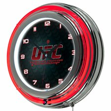 "UFC 14.5"" Double Ring Neon Clock"
