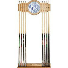 Wood and Mirror Wall Cue Rack