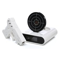 Gun & Target Recordable Alarm Clock Set