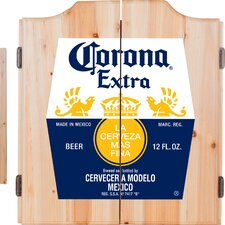 Corona Label Dartboard and Cabinet Set
