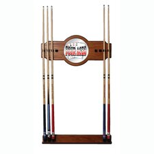 Four Aces 2-Piece Wood and Mirror Wall Cue Rack