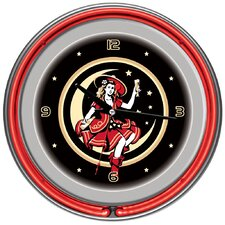 """14"""" Miller High Life Girl in the Moon Vintage Wall Clock"""
