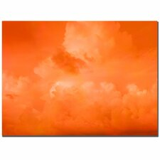 Orange Clouds by Miguel Paredes Painting Print on Wrapped Canvas