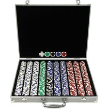 1000 Holdem Poker Chip Set with Aluminum Case