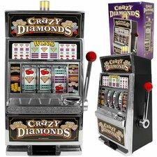 Crazy Diamonds Slot Machine Bank with 100 Tokens