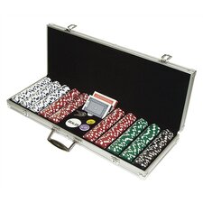 500 Piece Dice Style Poker Chip Set
