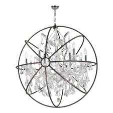 Armillary 13 Light Crystal Chandelier