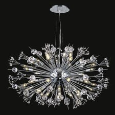 Starburst 24 Light Crystal Chandelier