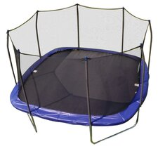 14' Square Trampoline and Enclosure