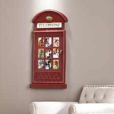 British Vintage Style Red Telephone Box Picture Frame